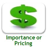 Importance or Pricing